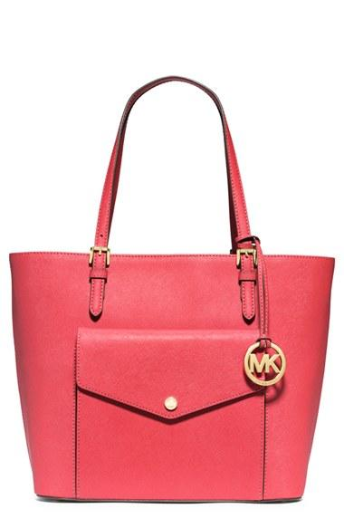 54ee4497f4a2 MICHAEL Michael Kors 'Jet Set - Large' Saffiano Leather Snap Pocket Tote ( Nordstrom Ex