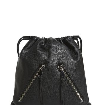 Rebecca Minkoff 'Moto' Leather Drawstring Backpack | Nordstrom