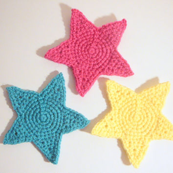 Star Coasters PDF Crochet Pattern INSTANT DOWNLOAD