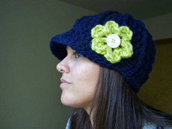 Seahawks Hat, Crochet Seahawks Beanie, Football Team Colors