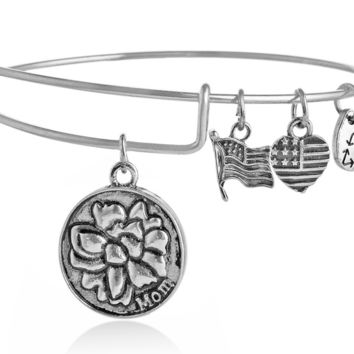 "Alex and Ani ""mom"" pendant charm bracelet,a perfect gift !"