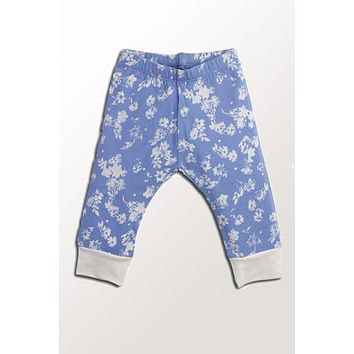 Organic Baby Pants - Chambray Floral NB to 18 mo.