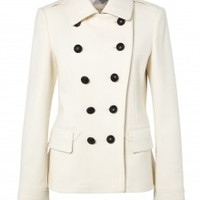 Pleated Back Double Breasted Jacket by Burberry Brit