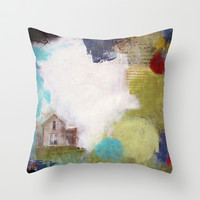 Love is a Place Throw Pillow by Natalie Baca
