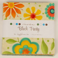 Block Party 5-inch Charm Packs by Sandy Gervais for Moda Fabrics