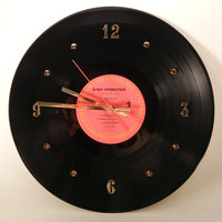"BRUCE SPRINGSTEEN Vinyl Record Wall Clock 'Born In The USA""  by recordsandstuff"