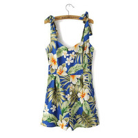 Women's Floral Rompers [7279004935]