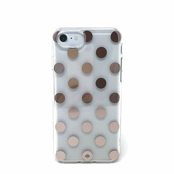 Kate Spade New York Le Pavillion Protective Rubber Case For iPhone 7 & iPhone 6 - Rose Gold/Clear