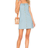 Clayton Denim Angie Dress in Sunfade Denim | REVOLVE