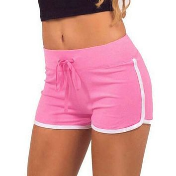 Women skinny casual waist comfy split elasticated shorts for woman
