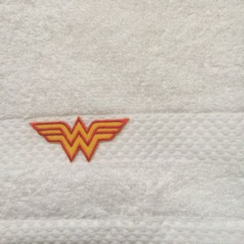M&ampS Wonder Woman Face Cloth - Available in White, Blue or Beige