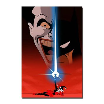 Batman Dark Knight gift Christmas Joker Batman The Animated Series DC Superhero Silk Canvas Poster 13x20 32x48Inches Pictures For Home Decoration-001 AT_71_6