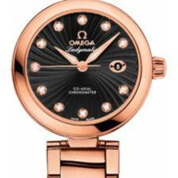 Omega - De Ville Ladymatic Co-Axial 34 mm - Red Gold