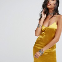 Glamorous Satin Slip Dress at asos.com