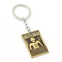 One Piece Law Wanted Poster Anime Key Chain
