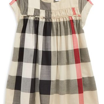 Burberry 'Ariadne' Check Woven Dress (Baby Girls) | Nordstrom