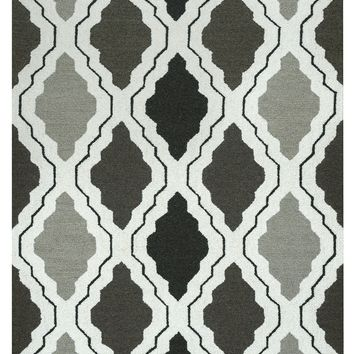 Rizzy Home Country CT2594 Black/Grey Trellis Area Rug