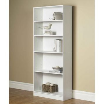 Mainstays Wide 5-Shelf Bookcase, Multiple Finishes - Walmart.com