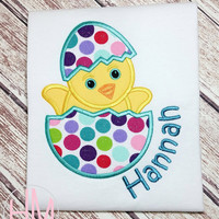 Easter Chick-Easter Egg Personalized Appliqued Shirt
