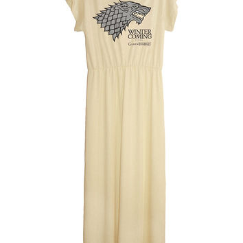 Game Of Thrones Winter Is Coming Stark Long Maxi Dress Gown