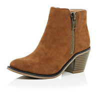 River Island Girls light brown ankle boots