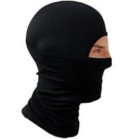Balaclava Compression Face Mask - Best Wind, Cold & UV Protection for Men, Women, Kids - Breathable Winter Neck Warmer & Summer Use - Outdoor Sports, Motorcycle, Skiing, Snowboard (Black - M)