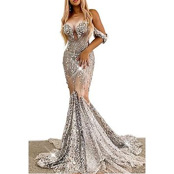 Valerie 3D cleavage diamante Dress(Rhinestone)(Ready To Ship)