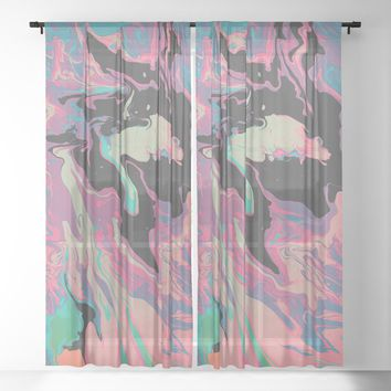 ExtraDimensional Sheer Curtain by duckyb