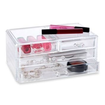 Clear Multiple Drawer Cosmetic Organizer