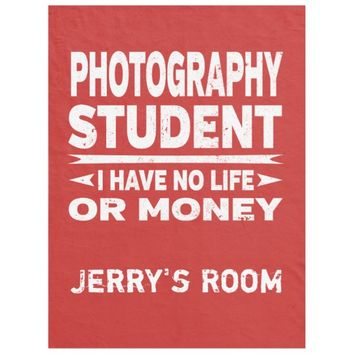 Photography College Major No Life or Money Fleece Blanket