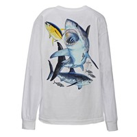 Guy Harvey Kids' Great White Long Sleeve T-shirt
