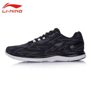 Li Ning Original Men's Light Runner Running Shoes Breathable Cushion Sports Irregular Pattern Design Cool Shoes Sneakers ARBM021