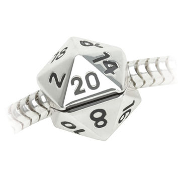 d20 Clip Charm Bead - Charm Only