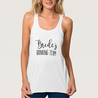 Bride's Drinking Team Bachelorette Party Tank Top