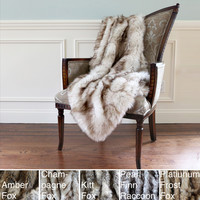 Aurora Home Wild Mannered Luxury Long Hair Faux Fur 58 x 36-inch Lap Throw | Overstock.com Shopping - The Best Deals on Throws