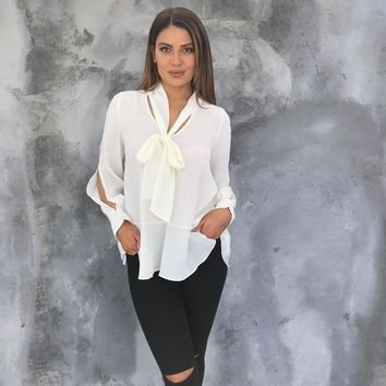Tie The Knot Ivory Blouse