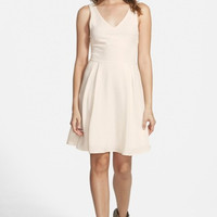 Textured Skater Dress (Juniors)