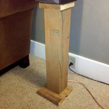 Rustic Surround Sound Speaker Stands