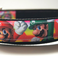 Super Mario Bros. Dog Collar Adjustable Sizes (M, L, XL)