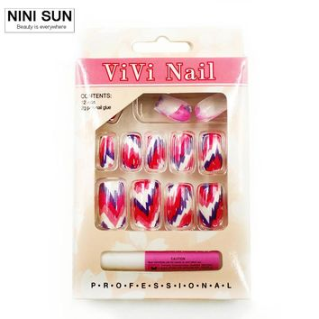 Artificial Nails With New Designs UV Gel Colorful Cheap Fake Nails Art Full Cover Plastic Nail Tips Nail Art Beauty