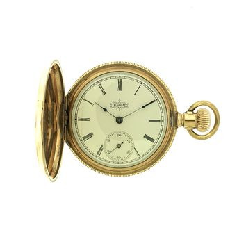 Elgin Manual Wind Gold Plated Hunter Pocket Watch c. 1896