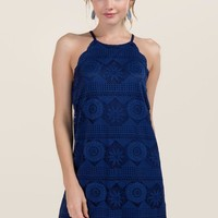 Ari Scalloped Lace Shift Dress