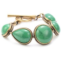 "Lucky Brand Turquoise Color Howlite Gold-Tone Link Bracelet, 7.5"" - designer shoes, handbags, jewelry, watches, and fashion accessories 