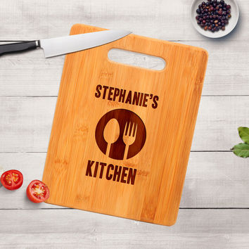 Personalized Kitchen Cutting Board - Personalized Gift Idea - Bamboo Cutting Board