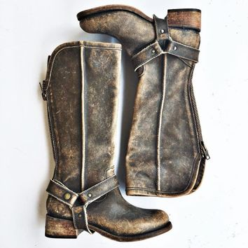 Corral Distressed Brown Tall Harness Boots
