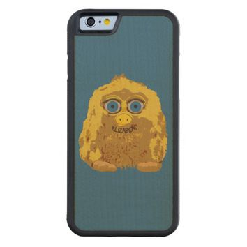 Cute Yellow Yeti Bigfoot With Big Blue Eyes Carved® Maple iPhone 6 Bumper Case