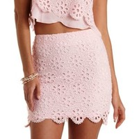 Eyelet Lace Mini Skirt by Charlotte Russe