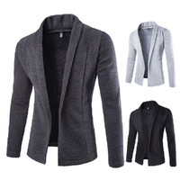New Button-less Design Men's Fashion Cardigan