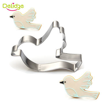 Delidge Animals Theme Stainless Steel Cookie Cutter Duck Giraffe Owl Pigeon Pegasus Elephant Shape Biscuit Mould Cake Decor