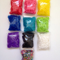 1500 Rainbow Loom Bands Refill Assortment - Free US Shipping - Latex Free Bands  - 45 clips